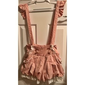 Kawaii Lolita Puffy Shorts with suspenders